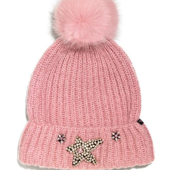 e3e9b9af16a Victoria s Secret ANGEL Rhinestone Star Hat BEANIE